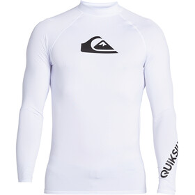Quiksilver All Time Camiseta Manga Larga Hombre, blanco